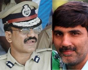 ADGP Anurag Gupta (left) and CM's  political advisor Ajay Kumar (right)