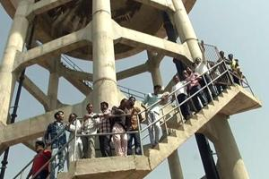 Sholay-style protest for water, villagers climb tank in Rajasthan