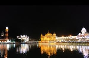 The Golden Temple is illuminated especially on festivals. The new lighting will be a permanent feature.