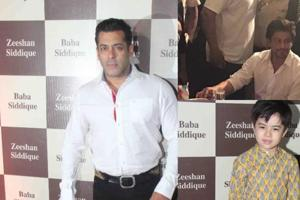 Salman Khan, SRK attend Baba Siddiqui's Iftar party, but separately....