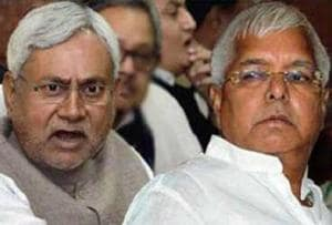 The relations between the grand alliance's top leaders, Nitish Kumar and Lalu Prasad, have come under strain of late.