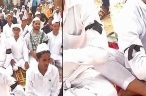Residents of Kandhawali in Haryana's Ballabhgarh observed Eid-al-Fitr...
