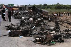 Pakistan fuel truck fire takes four more lives overnight, death toll...