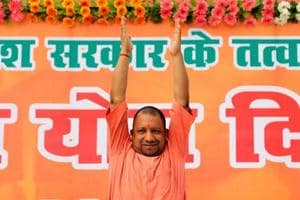 UPCMYogi Adityanath performs yoga during a practice session in Lucknow.