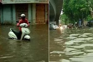 Heavy rains lashed Mumbai and many main parts of the city causing...