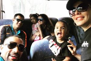 India vs West Indies: Dwayne Bravo hosts MS Dhoni and family over...