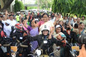 Lucknow: Women bikers get going against female foeticide