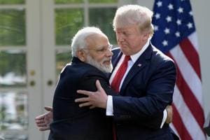US President Donald Trump finds out PM Modi is a hugger, thrice