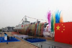 Chinese navy launches its most advanced destroyer ship in Shanghai