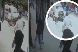 A drunk driver hit a woman on a scooty in Rajasthan's Mount Abu. CCTV...