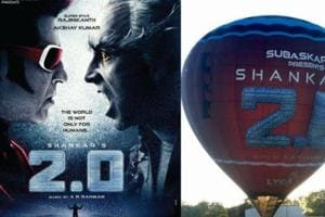 Rajinikanth's 2.o makers kick-off air balloon promotional drive. See...