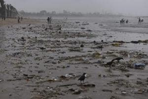 More than 120 tons of trash washes ashore Mumbai's Juhu beach over...