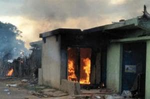 A man was beaten up and his house was set ablaze by a mob after a dead...