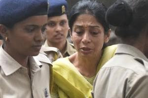 Indrani Mukerjea at JJ Hospital for a medical check-up on Wednesday.