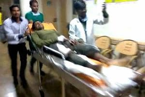 A jawan is being taken to a hospital after Maoist attack in Sukma, Chhattisgarh on Saturday, June 24, 2017.