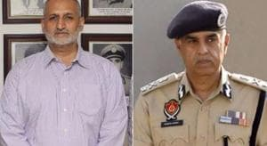 ADGPHarpreet Sidhu (Right) and DGP Suresh Arora