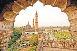 A view of the Bara Imambara and Asfi mosque in Lucknow and the city beyond it. Lucknow has always been known for its civilised and refined culture. But that tradition might now be changing under the shrill political and religious rhetoric being used across the nation.