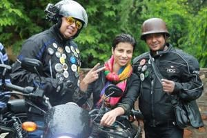 Joel David, Dimple Chaudhary and Sandeep Morris —participants in the parade.