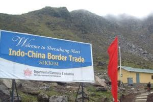 Nathu La Pass was once a peaceful border from where India and China started trade activities some years ago.