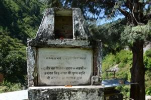 Rifleman Jaswant Singh's memorial in his ancestral village Baryun in Uttarakhand .
