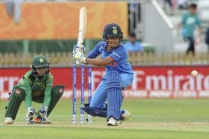 Sushma Verma bats during India's ICC Women