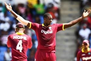 Jason Holder picked up his maiden five-wicket haul in ODIs as West Indies defeated India by 11 runs to stay alive in the five-match series. Get highlights of India vs West Indies 4th ODI here