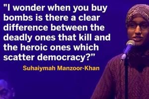 A 22-year-old Muslim woman's poem crushing Islamophobia has gone viral.
