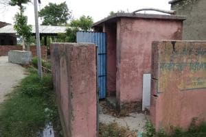 A defunct toilet at a primary school  in Ghazipur, in Bihar