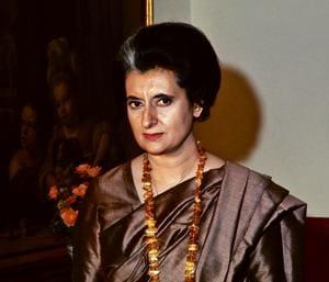 Indira Gandhi during a visit to the US.