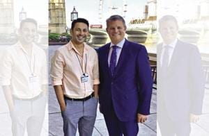 British MP Stuart Andrew (right) was impressed with filmmaker Apurva Asrani (left) for writing the thought-provoking film Aligarh