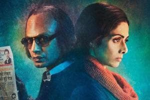 The posters of Mom created a good buzz. Sridevi and Nawazuddin Siddiqui on one such poster.