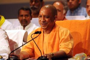 UP chief ministerYogi Adityanath addresses the press on completing 100 days in office.