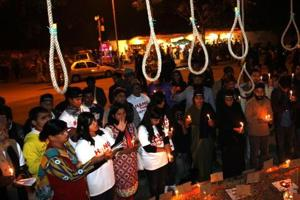 A representational picture of a candle march demanding strict punishment for accused in the Delhi gang-rape case.