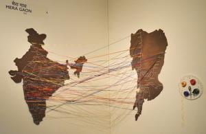 Mera Gaon, an installation on display as part of the 'Mumbai Return: Journeys Beyond the City' exhibition.