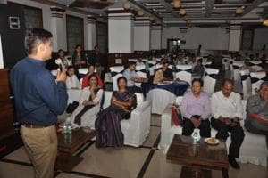 Participants attend a workshop in Dehradun on Friday ahead of mass screenings to be held for identifying non-communicable diseases in three districts.