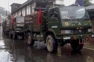 The army was redeployed after fresh violence erupted in Darjeeling hills where Gorkhaland supporters torched a police outpost, a toytrain station and clashed with the police at two places in Darjeeling on Saturday.