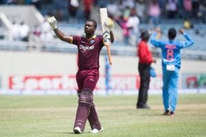 Evin Lewis decimates India, smashes second ton in West Indies' nine-wicket win