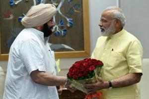 (Left)Punjab chief minister CaptainAmarinder Singh and Prime Minsiter Narendra Modi.