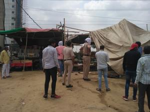 The MCG removed encroachments near Badshahpur drain and from Golf Course Road, Southern Peripheral Road and Vatika Chowk. Police teams were roped in to maintain law and order.