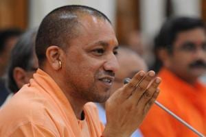 CM Yogi Adityanath holds a press conference after UPgovt presents its first annual budget.