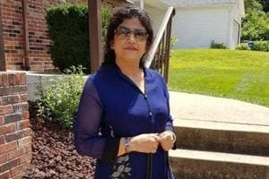 Sarita Jain, 53, was at home alone with her two house helps while her husband and son were at work on Tuesday when three men barged into her house.