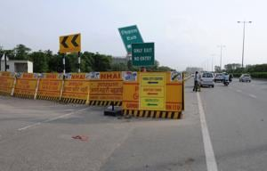 Route diversions have been effected at Signature Tower due to  the construction work of an elevated road and underpass.