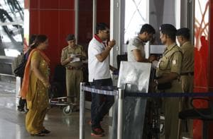 During the drill at the Delhi airport, parts of an improvised explosive device were put in a hand bag without a detonator and carried on a flight to Jammu to test CISF officers.