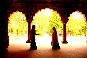 A scene from the theatre walk, Shah Jahan's Daughters, at Roshanara Bagh.