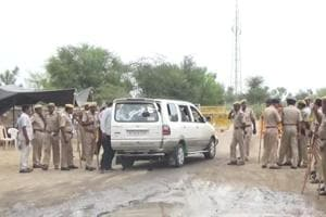 Thirteen companies of the Rajasthan armed constabulary (RAC) along with 400 personnel of the district police are deployed  in the village to maintain peace.