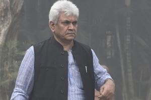 Union telecom minister Manoj Sinha in New Delhi.