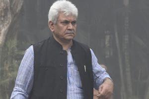 Union telecom minister Manoj Sinha in New Delhi.