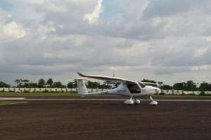 "Glider being used for ""Akash Darshnam""( aerial tourism) in Deoghar"