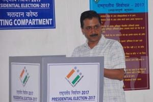 Delhi Chief Minister Arvind Kejriwal casts his vote in the Presidential polls. NDA nominee Ram Nath Kovind defeated opposition's candidate Meira Kumar by a huge margin to become India's 14th President. The swearing in will take place on July 25.