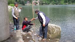 The clogged Naini Lake's condition has improved due to incessant rain in the last few days.